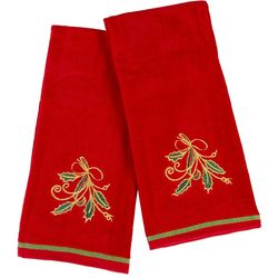 Lenox Holiday Nouveau 2-pc. Embroidered Holly Kitchen Towels