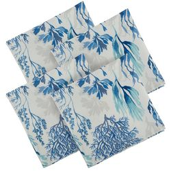 Arlee SolarTec 4-pc. Coral Reef Indoor/Outdoor Napkin Set