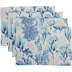 Arlee SolarTec 4-pc. Coral Reef Indoor/Outdoor Placemat Set