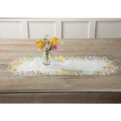 Arlee Tulip Floral Table Runner Centerpiece