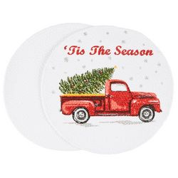 Table Trends 2-pc. 'Tis The Season Truck Placemat Set