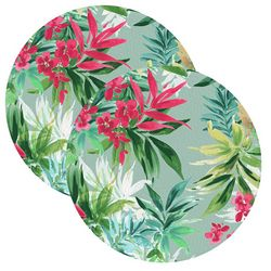 2-pc. Tropical Blossom Placemat Set