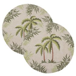 Table Trends 2-pc. Natural Palms Placemat Set