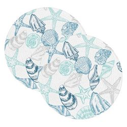 Table Trends 2-pc. Sea Shell Placemat Set