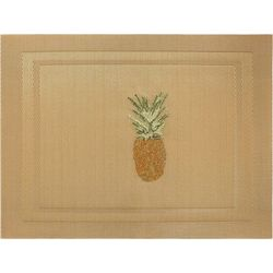 Arlee Pineapple Embroidered Placemat