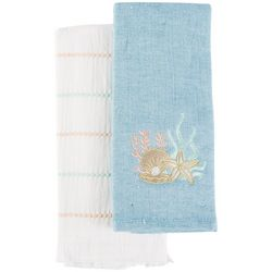 American Textile Co 2-pk. Ocean Floor Kitchen Towel Set