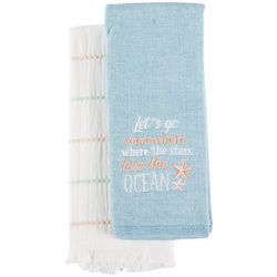 American Textile Co 2-pk. Kiss The Ocean Kitchen Towel Set