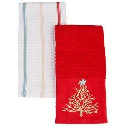 Brighten the Season 2-pc. Coral Tree Kitchen Towel Set