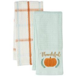 2-pk. Thankful Pumpkin Kitchen Towel Set