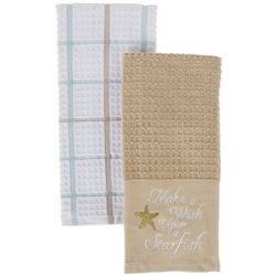 American Textile 2-pc Wish Upon Starfish Kitchen Towel Set