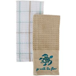 American Textile 2-pc. Go With The Flow Kitchen Towel Set