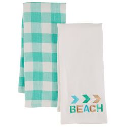 ATI 2-pk. Beach Sign Kitchen Towel Set