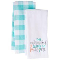 ATI 2-pk. This Mermaid Swims On Wine Kitchen Towel Set
