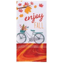 Enjoy Fall Bike Kitchen Towel