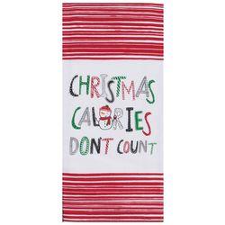 Kay Dee Designs Christmas Calories Don't Count Tea Towel