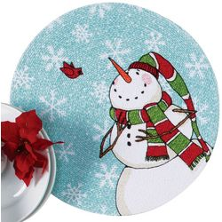Kay Dee Designs 2-pk. Snowman Braided Round Placemat