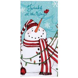 Kay Dee Designs Twinkle Snowman Dual Purpose Terry Towel