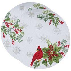 Kay Dee Designs 2-pk. Cardinal Braided Round Placemat