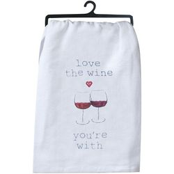 Love The Wine You're With Flour Sack Towel