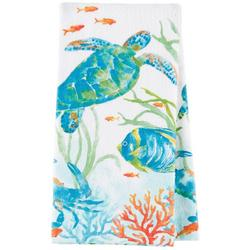 Sea Splash Terry Kitchen Towel