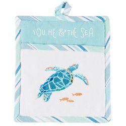 Sea Splash Turtle Pocket Mitt
