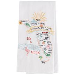 Florida Embroidered Flour Sack Towel