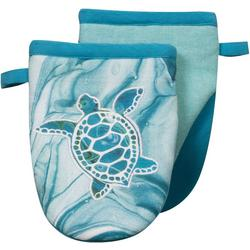 Sea Turtle Embroidered Mini Oven Mitt