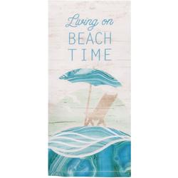 On Beach Time Tea Towel