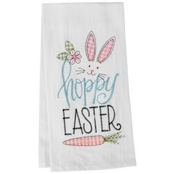 Happy Easter Embroidered Flour Sack Towel