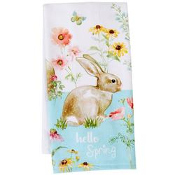 Hello Spring Bunny Dual Purpose Terry Towel