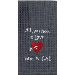 Kay Dee Designs Cat Love Waffle Kitchen Towel