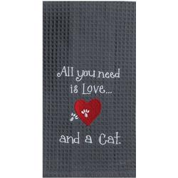 Cat Love Waffle Kitchen Towel