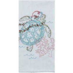 Kay Dee Designs Sea Turtle Christmas Flour Sack Towel