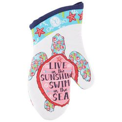 Southern Couture Sea Turtle Oven Mitt