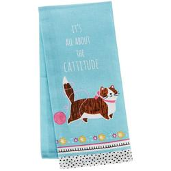 Crazy Cat Cattitude Tea Towel