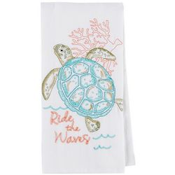 Kay Dee Designs Sea Turtle Embroidered Flour Sack Towel