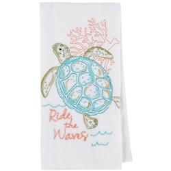 Sea Turtle Embroidered Flour Sack Towel