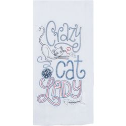 Kay Dee Designs Crazy Cat Lady Embroidered Flour Sack Towel