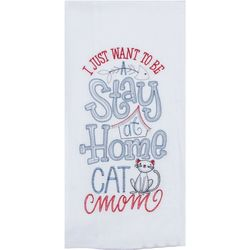 Cat Mom Embroidered Flour Sack Towel