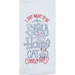 Cat Mom Embroidered Flour Sack Towel