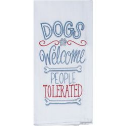 Kay Dee Designs Dogs Welcome Embroidered Flour Sack