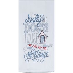Dogs House Embroidered Flour Sack Towel