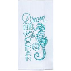 Dream Embroidered Flour Sack Towel