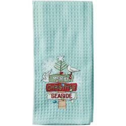 Kay Dee Designs Merry Christmas Seaside Waffle Towel