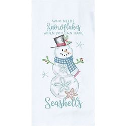 Kay Dee Designs Sand Dollar Snowman Kitchen Towel