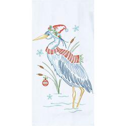 Kay Dee Designs Christmas Blue Heron Flour Sack Towel
