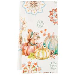 Pumpkin Medallion Dual Purpose Kitchen Towel