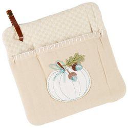 Kay Dee Designs Welcome Pumpkin Embroidered Pocket Mitt