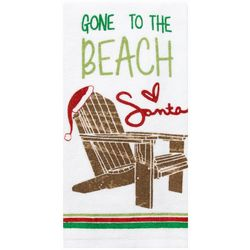 Ritz Gone To The Beach Santa Kitchen Towel