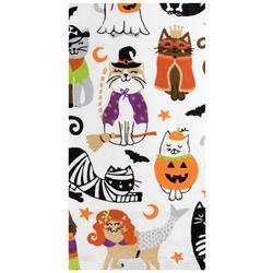 Halloween Kitty Costume Kitchen Towel